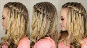 Beautiful waterfall braids